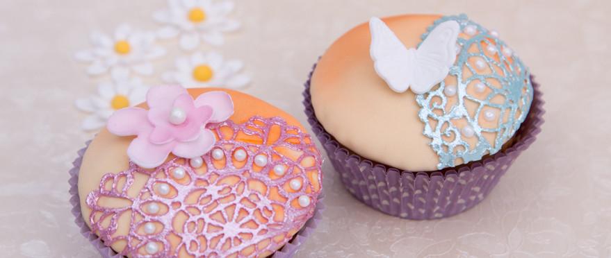 Spitzen-Dekoration Muffins