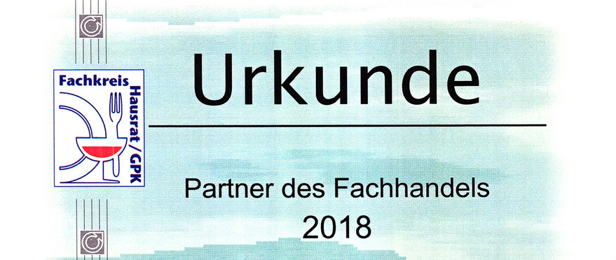 Urkunde Partner des Fachh. 2019